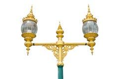 Винтажная лампа на белой предпосылке Стоковое Изображение