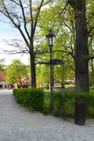 Винтажная лампа парка Стоковая Фотография RF
