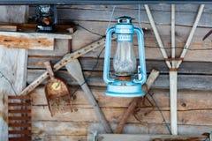 Винтажная лампа фонарика масла керосина Стоковая Фотография RF