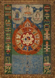 Винтажная астрологическая таблица Стоковые Изображения RF