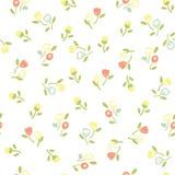 Винтажная безшовная флористическая картина Стоковое фото RF