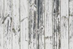 Винтажная белая деревянная стена Стоковая Фотография