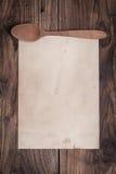 Винтажная бумага рецепта Стоковое Изображение RF