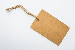 Винтажная бумажная бирка Стоковые Фотографии RF