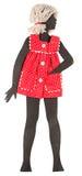 Винтажная бумажная кукла Стоковые Фото