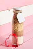 Винтажная бутылка с смешиванием печенья Стоковое Изображение RF