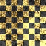 Винтажная великолепная старая поцарапанная пустая шахматная доска Стоковое фото RF