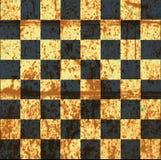 Винтажная великолепная старая поцарапанная пустая шахматная доска Стоковые Изображения RF