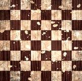 Винтажная великолепная старая поцарапанная пустая шахматная доска Стоковые Фотографии RF