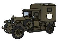 Винтажная воинская машина скорой помощи Стоковая Фотография