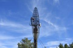 Винтажная воинская параболистическая антенна радара Стоковые Фотографии RF