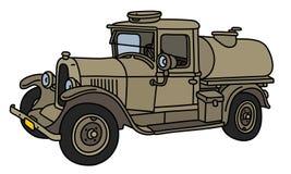 Винтажная воинская тележка танка Стоковая Фотография RF