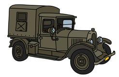 Винтажная воинская тележка Стоковое Изображение