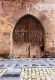 Винтажная двойная дверь Стоковое Изображение