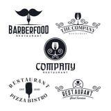 Винтажная воодушевленность дизайна логотипа ресторана - иллюстрация вектора бесплатная иллюстрация