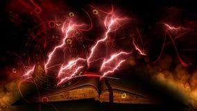 Винтажная волшебная книга на предпосылке bokeh Стоковая Фотография RF