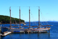 Винтажная гавань прибрежный Мейн бара корабля стоковые фото