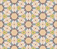 Винтажная геометрическая безшовная картина Предпосылка вектора, ретро текстура Стоковые Изображения RF