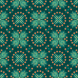 Винтажная геометрическая безшовная картина Предпосылка вектора, ретро текстура Стоковые Изображения