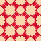 Винтажная геометрическая предпосылка с цветками, изогнутые формы, цепляет, соткет, шнурок, плитки повторения бесплатная иллюстрация