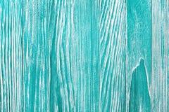 Винтажная голубая деревянная предпосылка с краской шелушения Старая покрашенная деревянная стена - текстура или предпосылка Стоковые Изображения RF
