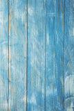 Винтажная голубая деревянная текстура предпосылки с узлами и отверстиями ногтя старая покрашенная древесина абстрактная синь пред Стоковая Фотография RF
