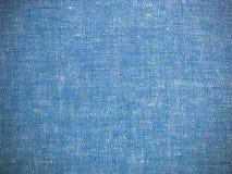 Винтажная голубая ткань белья текстуры голубое полотно стоковая фотография