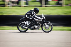 Винтажная гонка мотоцилк Стоковое фото RF