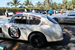 Винтажная гоночная машина aston Мартина Стоковые Фото