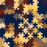 Винтажная головоломка полутонового изображения картины, Стоковая Фотография