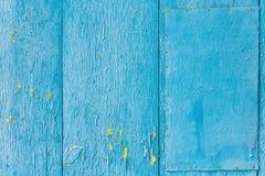 Винтажная голубая деревянная предпосылка с краской шелушения стоковая фотография