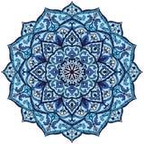 Винтажная голубая мандала Стоковые Фотографии RF