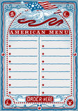 Винтажная графическая страница для американского меню Стоковые Фотографии RF