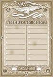 Винтажная графическая страница для американского меню Стоковое фото RF