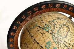 Винтажная глобальная карта Стоковые Изображения