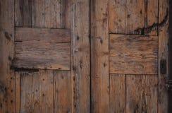 Винтажная деревянная дверь Естественной предпосылка текстурированная древесиной поверхностная Стоковое фото RF