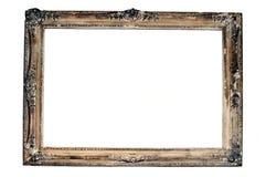 Винтажная деревянная изолированная рамка стоковые изображения rf