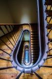 Винтажная деревянная лестница Стоковое Изображение