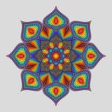 Винтажная декоративная мандала радуги элемента Стоковое Изображение RF