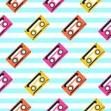 Винтажная лента музыки искусства шипучки striped безшовная картина Стоковые Изображения RF