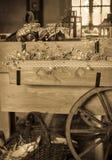Винтажная деревенская тележка Стоковое Изображение