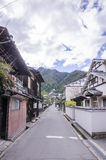Винтажная деревня на miyajima, Японии Стоковая Фотография RF