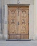 Винтажная деревянная дверь, Дрезден Германия Стоковая Фотография RF