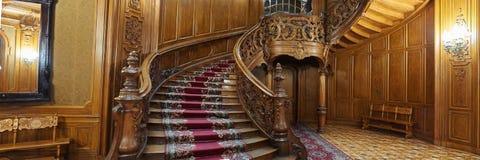 Винтажная деревянная винтовая лестница Стоковое Изображение