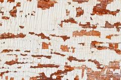 Винтажная деревянная коричневая текстурированная предпосылка с цветом белизны краски шелушения Фон для различных дизайнов Стоковое Изображение