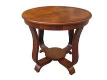 Винтажная деревянная таблица стиля Арт Деко на белой предпосылке Стоковое фото RF