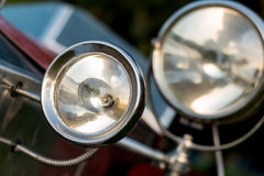 Винтажная деталь автомобиля - headlamp Стоковое фото RF