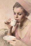 Винтажная женщина двадчадк Стоковое Фото