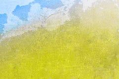 Винтажная желтая и голубая предпосылка гипсолита стоковое изображение