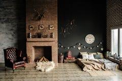 Винтажная живущая комната, ретро стиль стоковая фотография